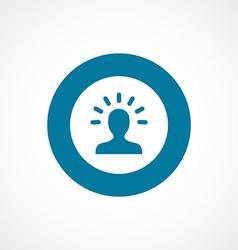 idea bold blue border circle icon vector image