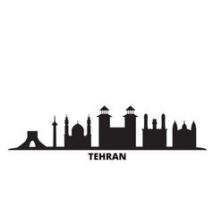 Iran tehran city skyline isolated vector