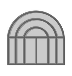 Isolated object of door and front symbol vector