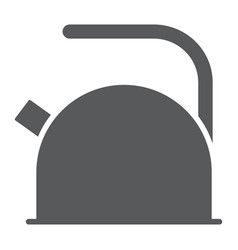 kettle glyph icon kitchen and cooking teapot vector image