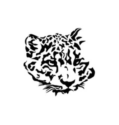 Leopard head logo vector