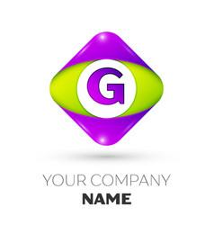 Letter g logo symbol in colorful rhombus vector