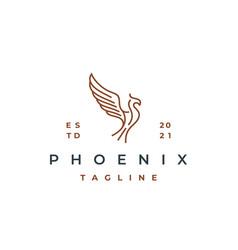 line art phoenix logo design template vector image