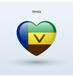 Love Venda symbol Heart flag icon vector