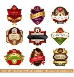 Luxury labels vector