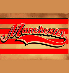 Manchester typography sports graphic vector