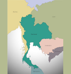 map of thailand administrative vector image