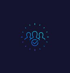 Membership line icon vector