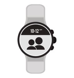 Modern digital watch icon vector