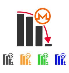 monero falling acceleration graph icon vector image
