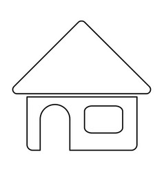 Monochrome contour of house in white background vector