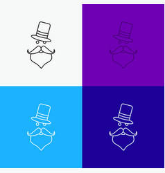 moustache hipster movember santa clause hat icon vector image