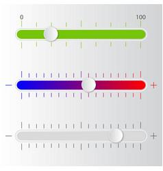 music mixer sliders vector image