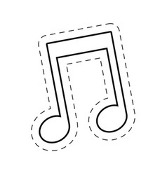 music note cut line vector image