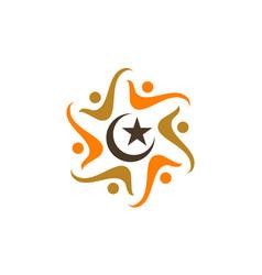 muslim community success vector image