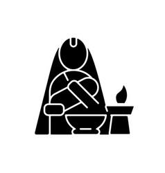 Nwaran black glyph icon vector