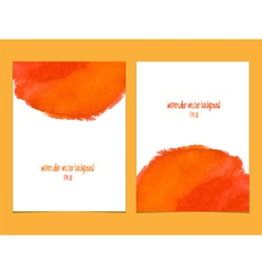 Orange and red watercolor background vector