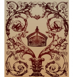 ornamental crown vector image