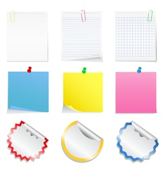 paper notes and stickers vector image