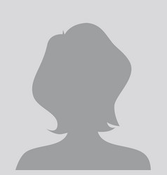 person gray photo placeholder woman vector image