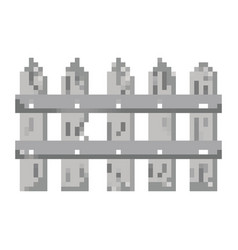 pixelated gray wood grillage structure vector image