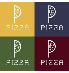 Pizza monogram vector