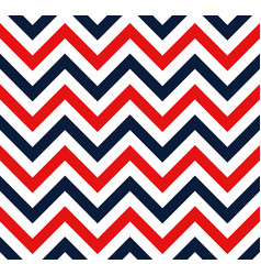red and blue chevron retro decorative pattern vector image