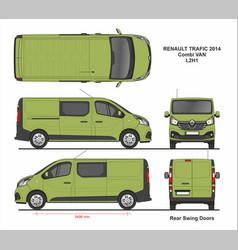 Renault trafic combi delivery van l2h1 2014 vector