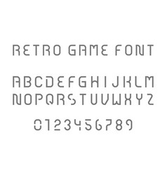Retro game font vector