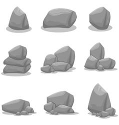 Rock of art vector
