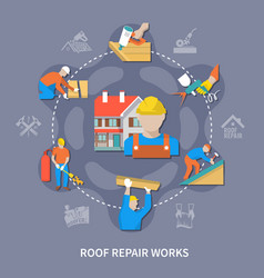 roofer colored composition vector image