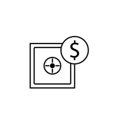 safe dollar icon element of finance signs and vector image