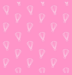 seamless pattern hot air balloon on pink vector image