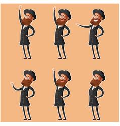 Set of jew cartoon icons3 vector