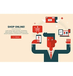 shop online e-commerce concept vector image