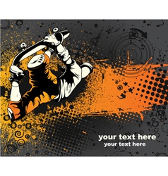 Skater with grunge vector
