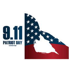 Soldier silhouette memorial day patriot day vector