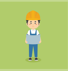 Stock construction workers with activities vector