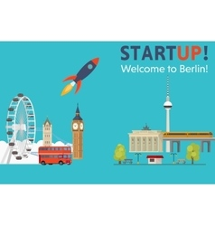 Sturtup welcome to Berlin vector image vector image