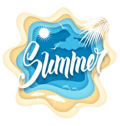 summer paper art vector image