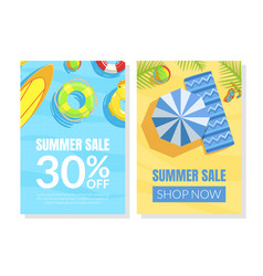 summer sale card template shop now advertising vector image