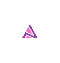 Triangle shape colored logo vector