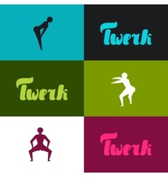 Twerk and booty dance background for dancing vector image
