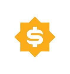 unique yellow dollar symbol vector image