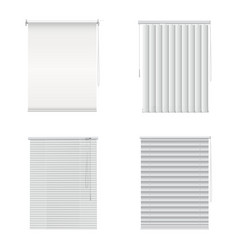 Window blinds closed curtains jalousie realistic vector