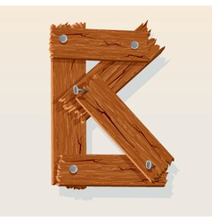 wooden letter b vector image