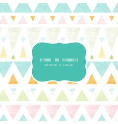 Abstract ikat triangles stripes frame seamless vector image vector image