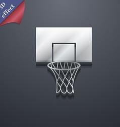 Basketball backboard icon symbol 3d style trendy vector