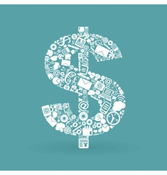Business dollar vector image vector image