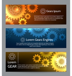 Digital engineering banner set Teamwork or vector image vector image